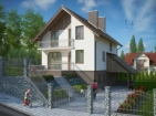 Проект элегантного дома с подвалом, гаражом и мансардой